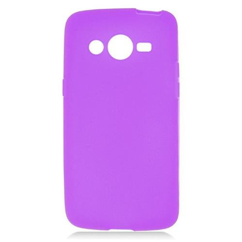 Insten TPU Rubber Candy Skin Case Cover Compatible With Samsung Galaxy Avant, Purple