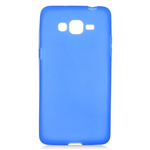 Insten TPU Rubber Candy Skin Case Cover Compatible With Samsung Galaxy Grand Prime, Blue