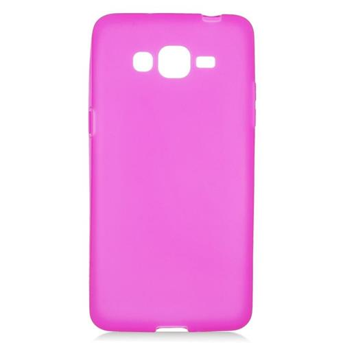 Insten TPU Rubber Candy Skin Case Cover Compatible With Samsung Galaxy Grand Prime, Hot Pink
