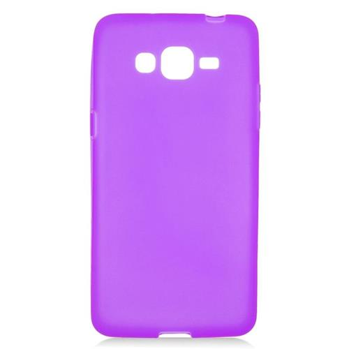 Insten TPU Rubber Candy Skin Case Cover Compatible With Samsung Galaxy Grand Prime, Purple