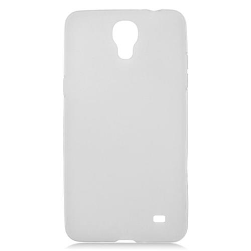 Insten TPU Rubber Candy Skin Case Cover Compatible With Samsung Galaxy Mega 2, White