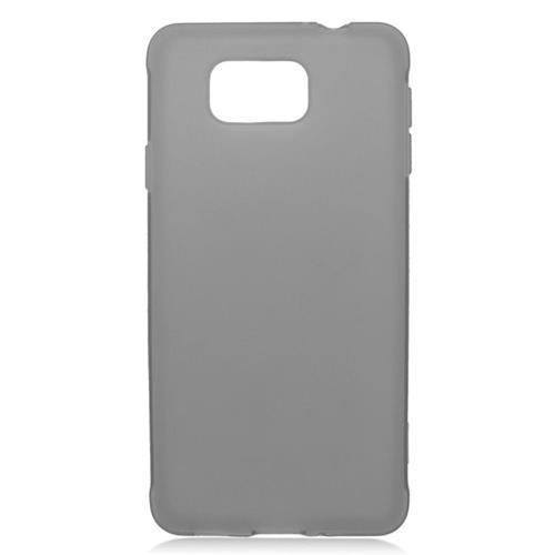 Insten TPU Rubber Candy Skin Case For Samsung Galaxy Alpha SM-G850A/SM-G850T, Black