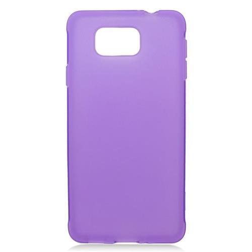 Insten TPU Rubber Candy Skin Case For Samsung Galaxy Alpha SM-G850A/SM-G850T, Purple