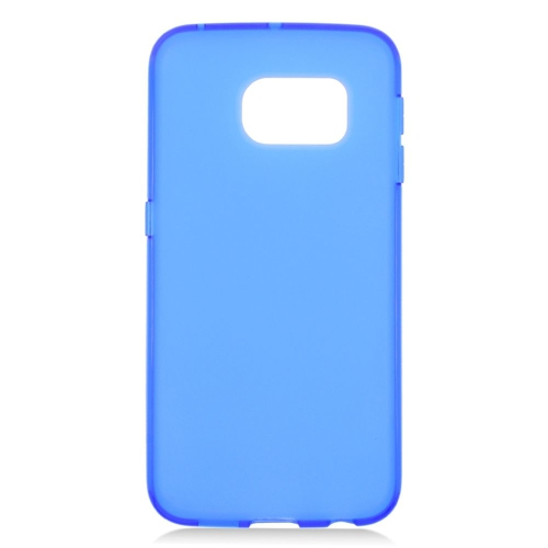 Insten TPU Rubber Candy Skin Case Cover Compatible With Samsung Galaxy S6 Edge, Blue