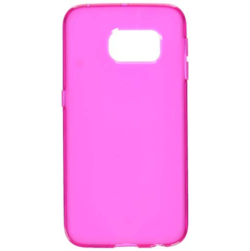 Insten TPU Rubber Candy Skin Case Cover Compatible With Samsung Galaxy S6 Edge, Hot Pink
