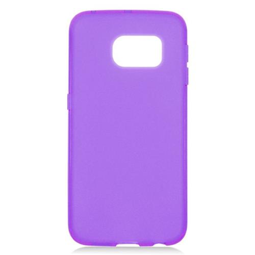 Insten TPU Rubber Candy Skin Case Cover Compatible With Samsung Galaxy S6 Edge, Purple
