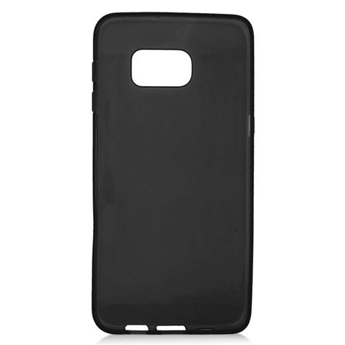 Insten TPU Rubber Candy Skin Case Cover Compatible With Samsung Galaxy S6 Edge Plus, Black