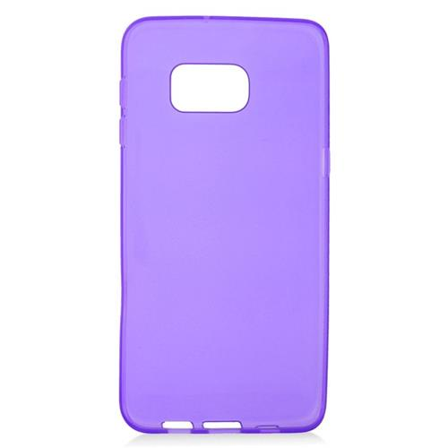 Insten TPU Rubber Candy Skin Case Cover Compatible With Samsung Galaxy S6 Edge Plus, Purple