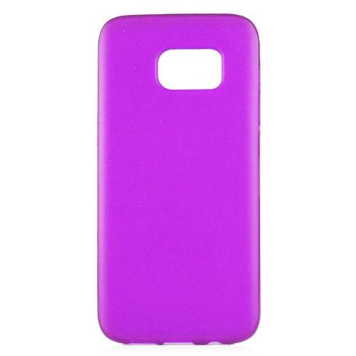 Insten TPU Rubber Candy Skin Case Cover Compatible With Samsung Galaxy S7 Edge, Purple