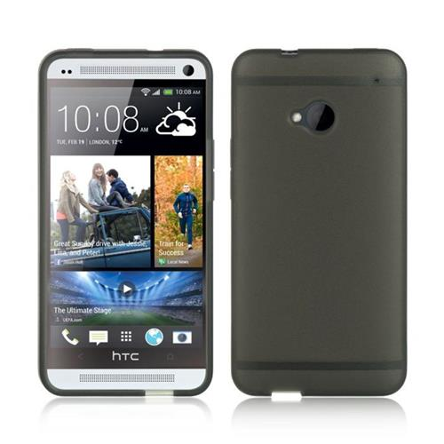 Insten Fitted Soft Shell Case for HTC One M7 - Smoke;Black