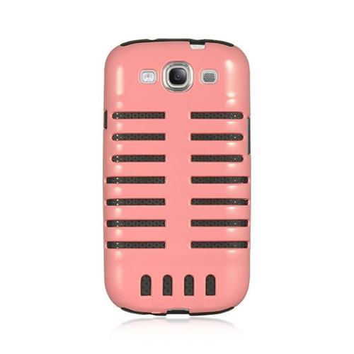 Insten Skeleton Hybrid PC/Silicone Case For Samsung Galaxy S3 GT-i9300, Pink/Black