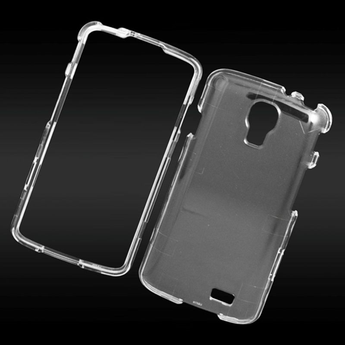 Insten Crystal Hard Snap-in Case Cover Compatible With LG F70 D315, Clear