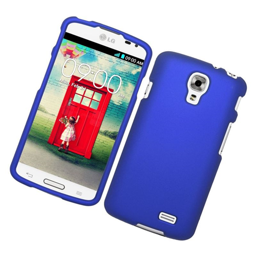 Insten Rubberized Hard Snap-in Case Cover Compatible With LG F70 D315, Blue