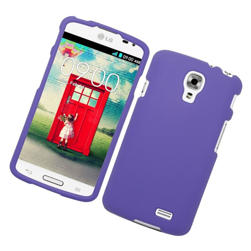 Insten Rubberized Hard Snap-in Case Cover Compatible With LG F70 D315, Purple