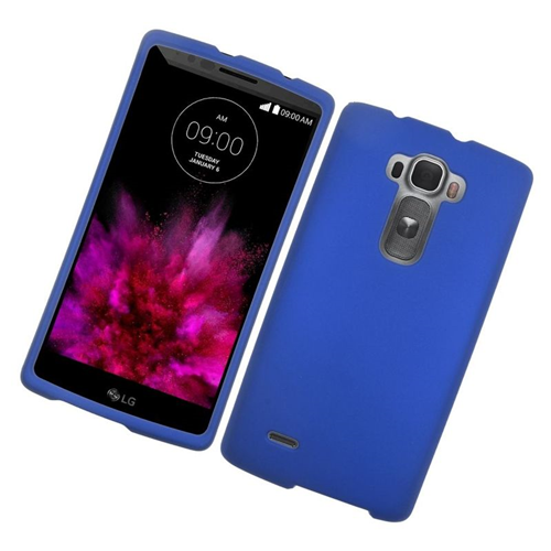 Insten Rubberized Hard Snap-in Case Cover Compatible With LG G Flex 2, Blue
