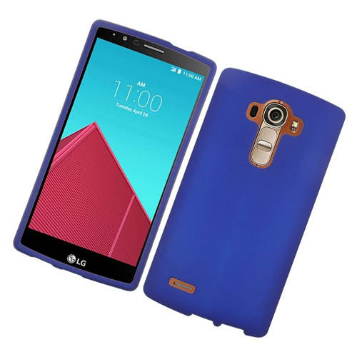 Insten Rubberized Hard Snap-in Case Cover Compatible With LG G4, Blue