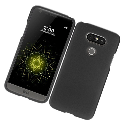 Insten Rubberized Hard Snap-in Case Cover Compatible With LG G5, Black