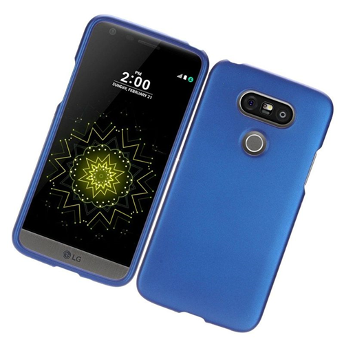 Insten Rubberized Hard Snap-in Case Cover Compatible With LG G5, Blue
