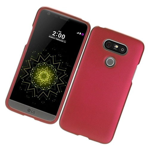 Insten Rubberized Hard Snap-in Case Cover Compatible With LG G5, Red