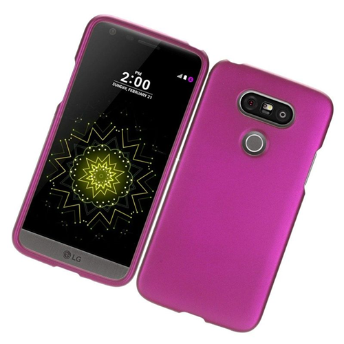 Insten Rubberized Hard Snap-in Case Cover Compatible With LG G5, Hot Pink