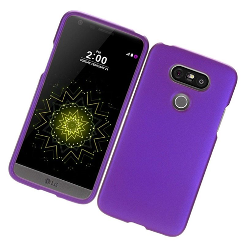 Insten Rubberized Hard Snap-in Case Cover Compatible With LG G5, Purple