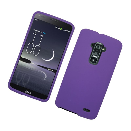 Insten Rubberized Hard Snap-in Case Cover Compatible With LG G Flex, Purple