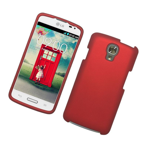 Insten Rubberized Hard Snap-in Case Cover Compatible With LG Volt LS740, Red