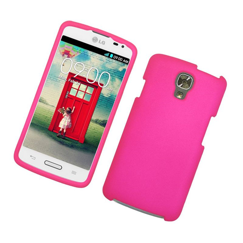 Insten Rubberized Hard Snap-in Case Cover Compatible With LG Volt LS740, Hot Pink