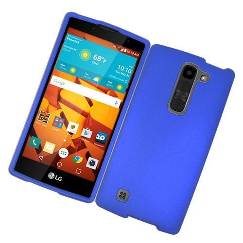 Insten Rubberized Hard Snap-in Case Cover Compatible With LG Volt 2, Blue