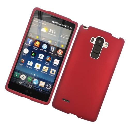 Insten Rubberized Hard Snap-in Case Cover Compatible With LG G Stylo LS770/G Vista 2, Red