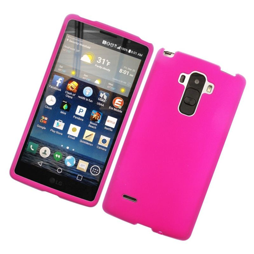 Insten Rubberized Hard Snap-in Case Cover Compatible With LG G Stylo LS770/G Vista 2, Hot Pink