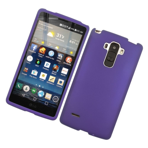 Insten Rubberized Hard Snap-in Case Cover Compatible With LG G Stylo LS770/G Vista 2, Purple