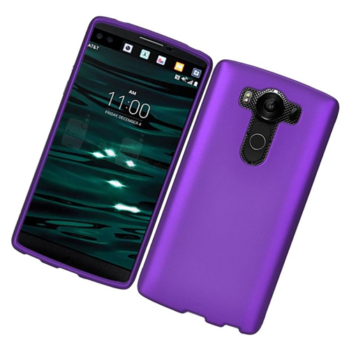 Insten Rubberized Hard Snap-in Case Cover Compatible With LG V10, Purple