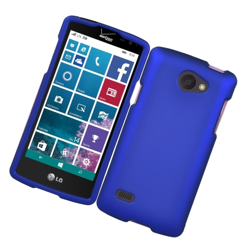 Insten Rubberized Hard Snap-in Case Cover Compatible With LG Lancet VW820, Blue