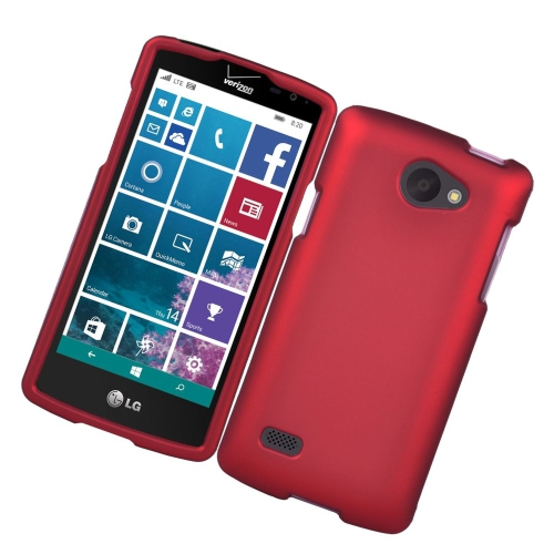 Insten Rubberized Hard Snap-in Case Cover Compatible With LG Lancet VW820, Red