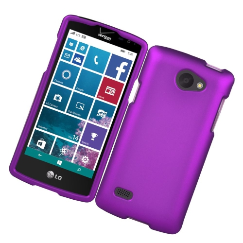 Insten Rubberized Hard Snap-in Case Cover Compatible With LG Lancet VW820, Purple
