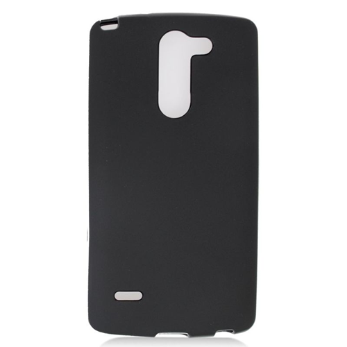 Insten TPU Rubber Candy Skin Case Cover Compatible With LG G3 Stylus, Black