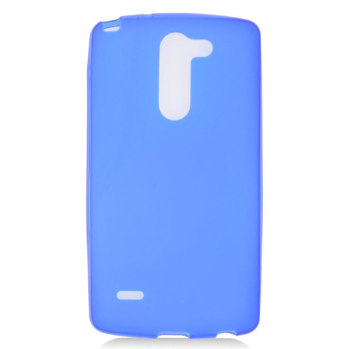 Insten TPU Rubber Candy Skin Case Cover Compatible With LG G3 Stylus, Blue