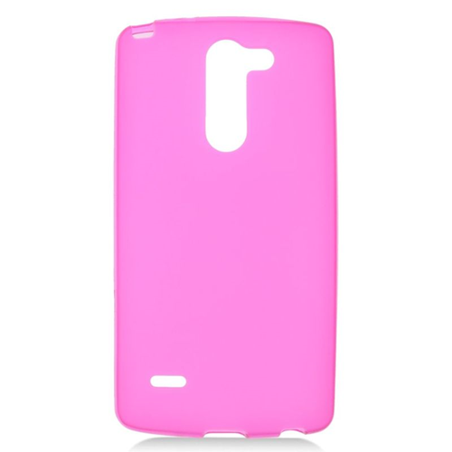 Insten TPU Rubber Candy Skin Case Cover Compatible With LG G3 Stylus, Hot Pink