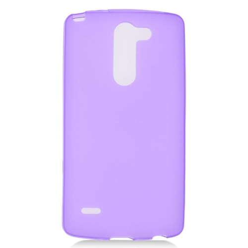 Insten TPU Rubber Candy Skin Case Cover Compatible With LG G3 Stylus, Purple