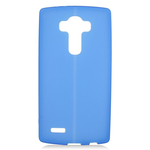 Insten TPU Rubber Candy Skin Case Cover Compatible With LG G4, Blue