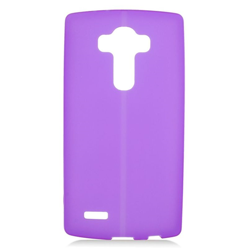 Insten TPU Rubber Candy Skin Case Cover Compatible With LG G4, Purple