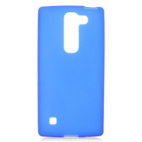 Insten TPU Rubber Candy Skin Case Cover Compatible With LG Escape 2 H443 / H445, Blue