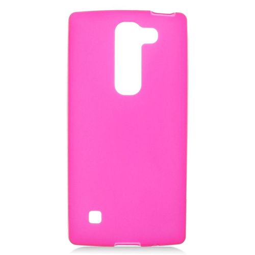 Insten TPU Rubber Candy Skin Case Cover Compatible With LG Escape 2 H443 / H445, Hot Pink