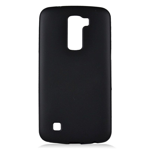 Insten TPU Rubber Candy Skin Case Cover Compatible With LG K10 (2016) K420N, Black