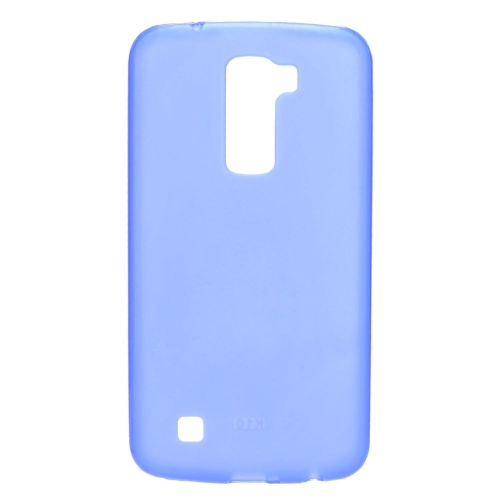 Insten TPU Rubber Candy Skin Case Cover Compatible With LG K10 (2016) K420N, Blue