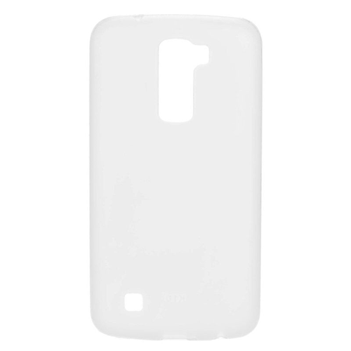 Insten TPU Rubber Candy Skin Case Cover Compatible With LG K10 (2016) K420N, White