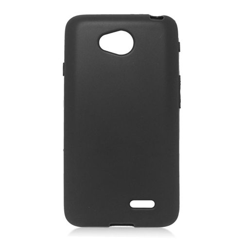 Insten TPU Rubber Candy Skin Case For LG Optimus L70 MS323/Realm LS620, Black