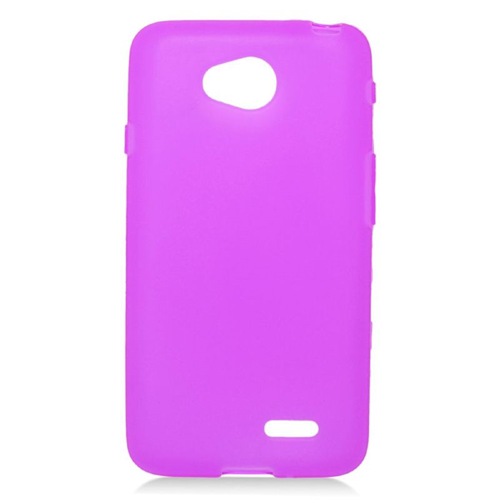 Insten TPU Rubber Candy Skin Case For LG Optimus L70 MS323/Realm LS620, Purple