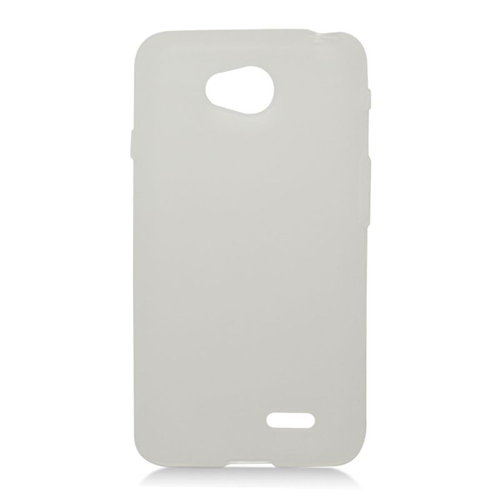 Insten TPU Rubber Candy Skin Case For LG Optimus L70 MS323/Realm LS620, White